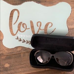 Auth Chanel Sunglasses 6037 brown Tortoise gold